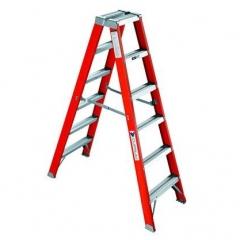 Escalera tipo tijera 6 pelda os doble acceso salcom for Escaleras 10 peldanos de tijera